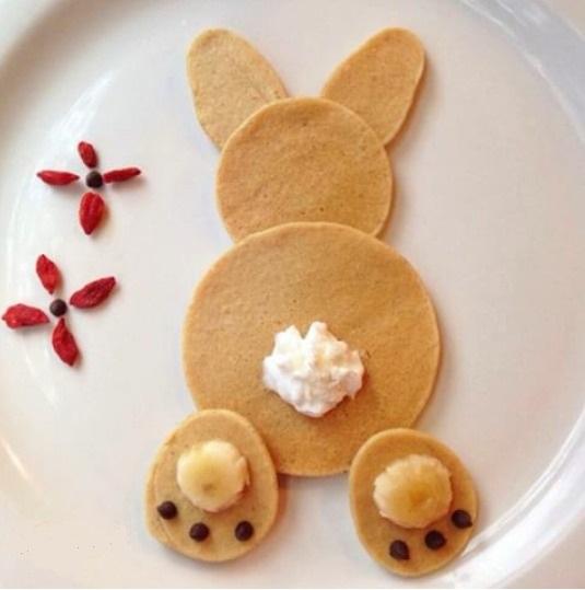 Bunny Pancakes - Easter Breakfast